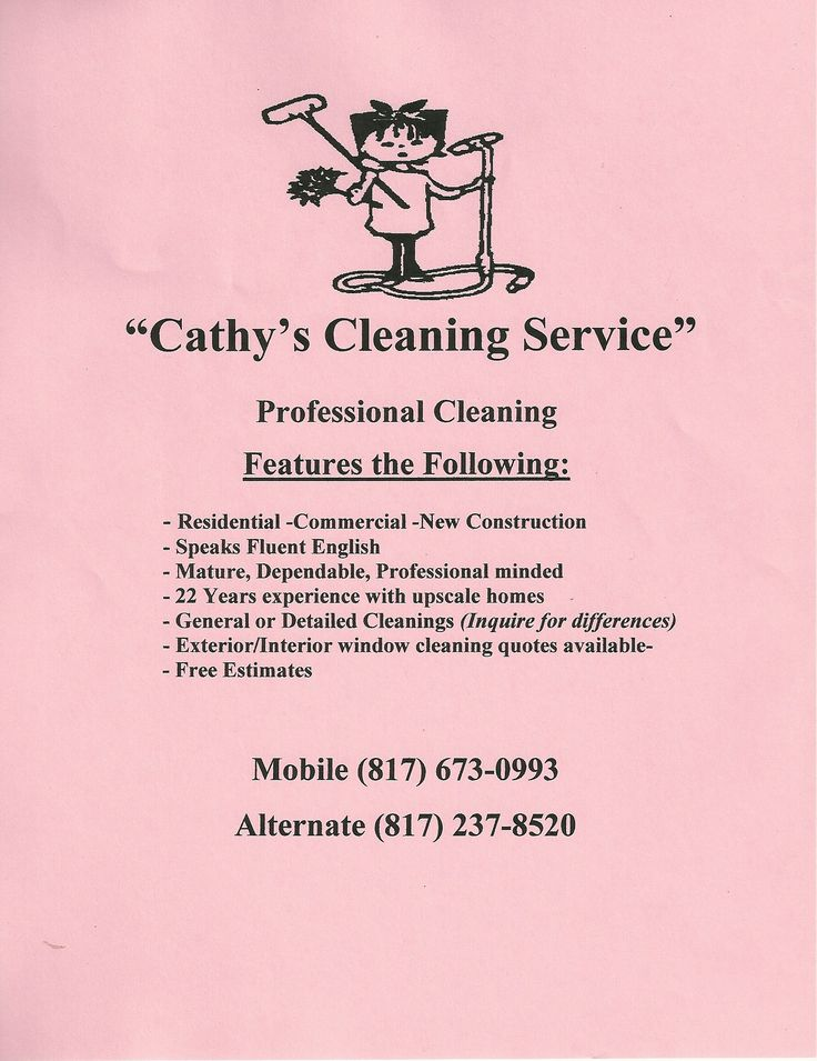 31 Best Cleaning Service Flyer Images On Pinterest Cleaning