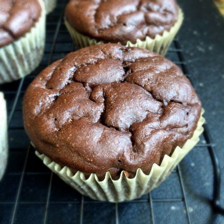 Dark chocolate banana protein muffins kodiak cakes