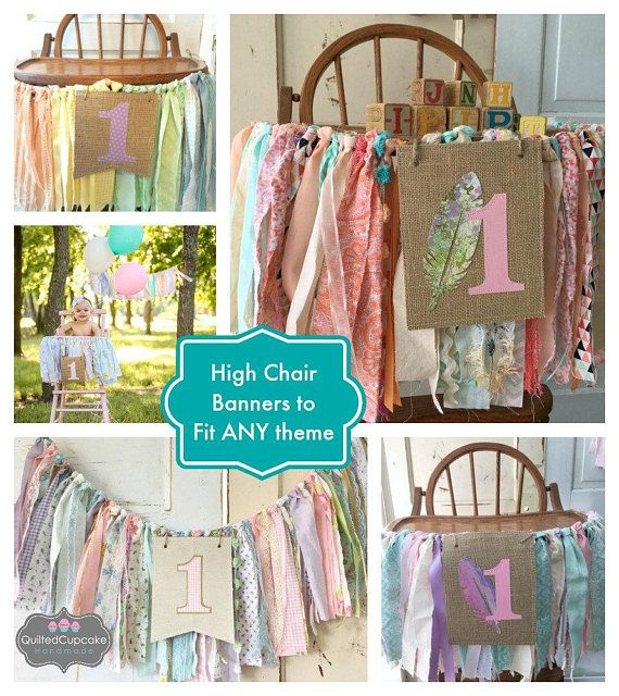 Girls High Chair Banner. #firstbirthday #etsy
