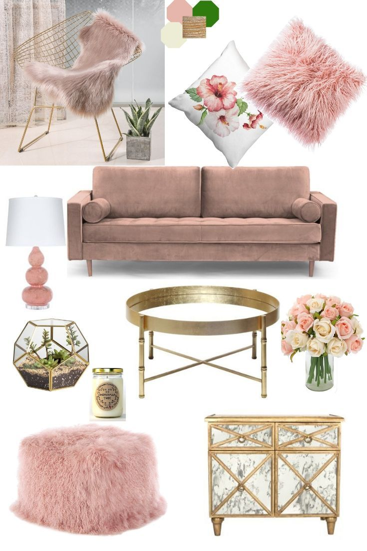 Blush And Copper Room Decor 2019 I Found This Chic And Simple And I Got My Inspiration From The Pic Gold Living Room Decor Gold Living Room Copper Room Decor