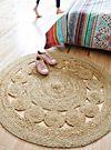 Braided jute rug 120cm round | Simons Maison | Neutral basic carpets online | Simons