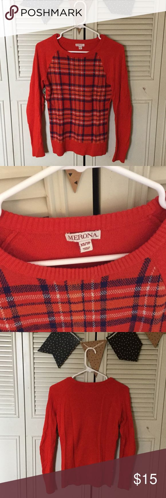 Selling this Red checkered sweater on Poshmark! My username is: vinglett. #shopmycloset #poshmark #fashion #shopping #style #forsale #Merona #Sweaters