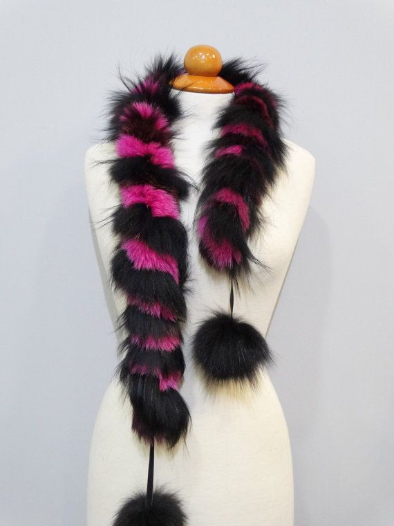 Real fox fur scarfReal fur collarFox fur Twisted by FilimegasFurs