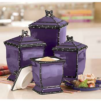 Purple canisters / I feel like they could be a little more ornate, but I still really love them