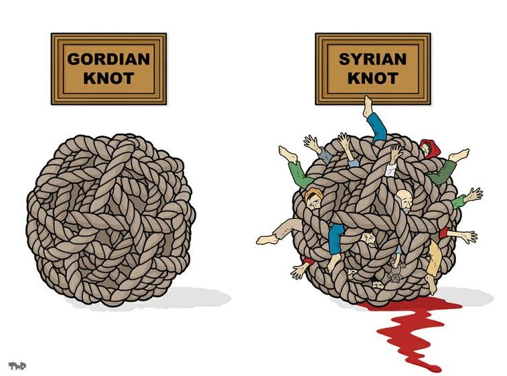 #Syria, a conflict without a solution? Cartoon by Tjeerd Royaards: http://www.cartoonmovement.com/cartoon/27549