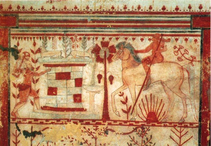 Fresco from Tomb of the Bulls, Tarquinia
