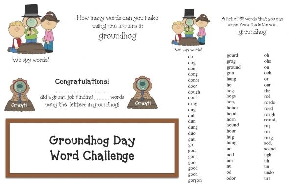 make words from letters game groundhog day activities how many words can you make 681