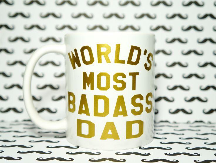 World's Best DAD Coffee Mug / WORLD'S MOST BADASS DAD Coffee Mug. World's Best DAD, Best DAD Mug, DAD Mug, DADDY MUG, DAD Gift, Gift for DAD