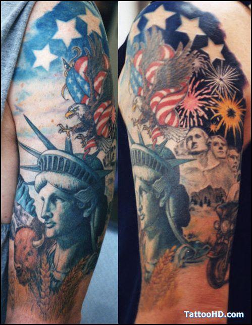 Patriotic Tattoos | patriotic foot tattoo gallery , Patriotic Tattoos