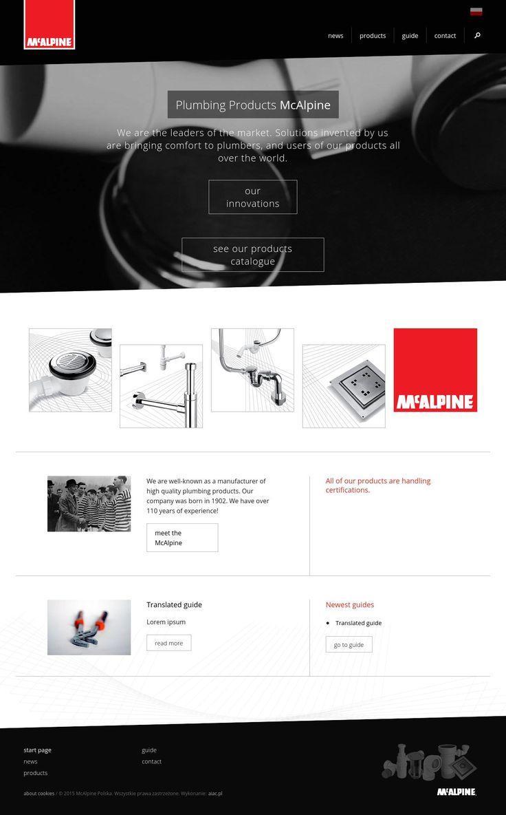 AIAC Agency redesign for McAlpine   http://mcalpine.pl   http://aiac.pl  #website #webdesign #blackandwhite #mcalpine #aiac