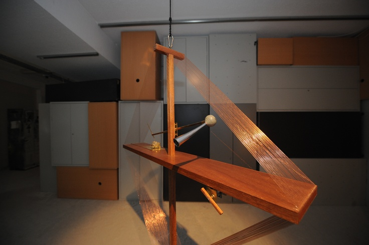 "Athanasios Argianas & Nick Laessing We All Turn This Way (Crystal Receiver for Friedrich Juergenson), 2008 mixed media 200 x 140 x 35 cm Courtesy: The Breeder, Athens Installation view, 2nd Athens Biennale 2009 ""Heaven"""