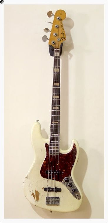 Fender Jazz Bass - 1968. Refinished, but with lots of mojo.