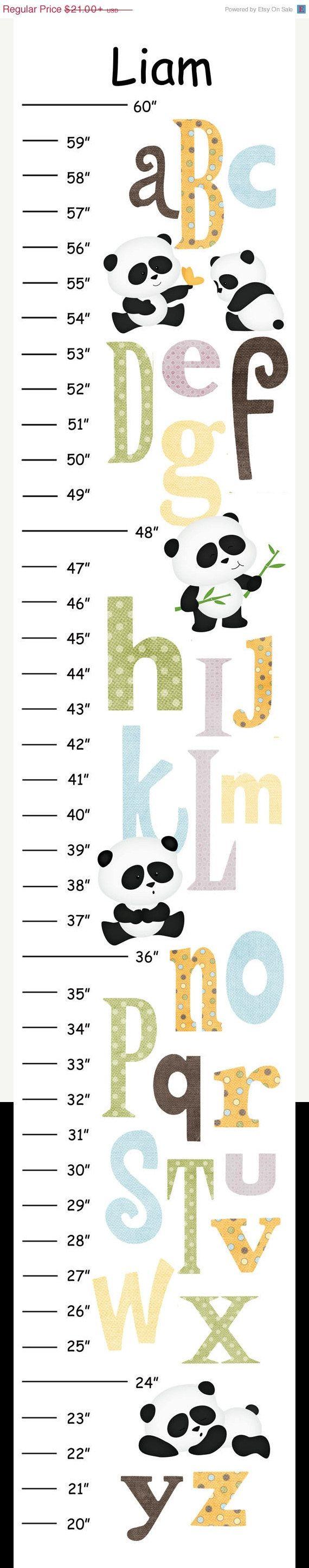 ON SALE Personalized ABC Panda Canvas Growth by CamieTurnerDesigns, $18.90