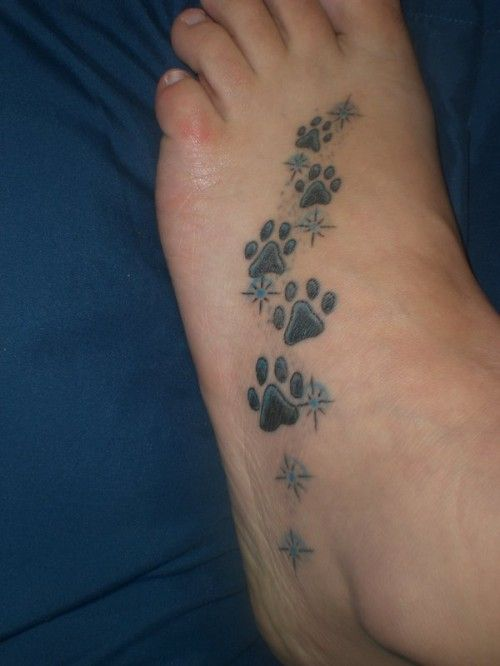 Something like this for my foot.  Only with Tequila, Muffin and Pumpkins left paw prints on my left foot