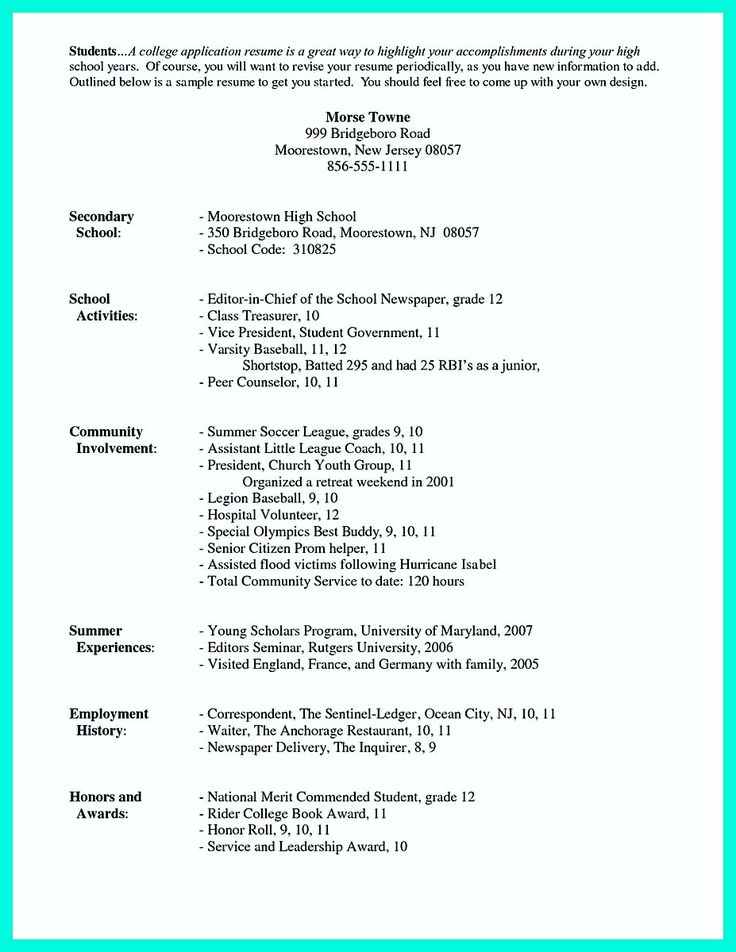 Best 25+ College resume template ideas on Pinterest Office - basic resume templates for high school students