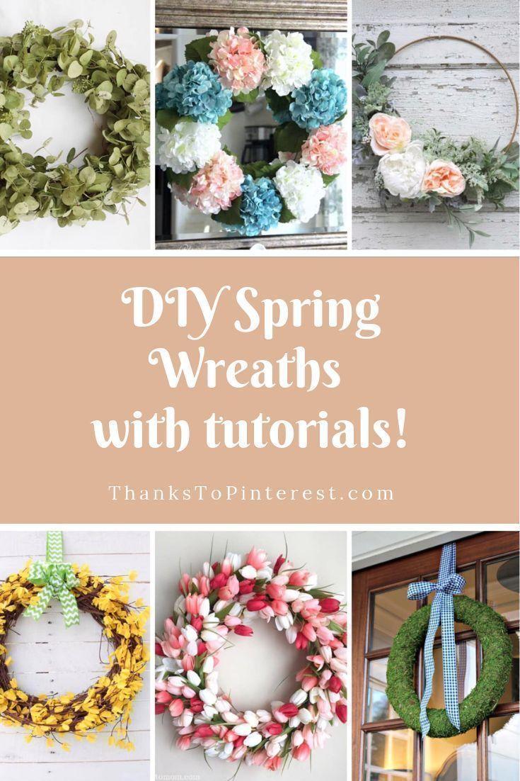 20 Diy Spring Wreaths Diy Spring Wreath Spring Diy Tulip Wreath Diy