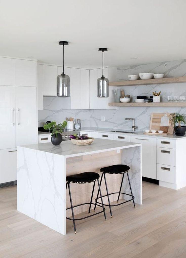 Amazing modern white kitchen island ideas make the kitchen