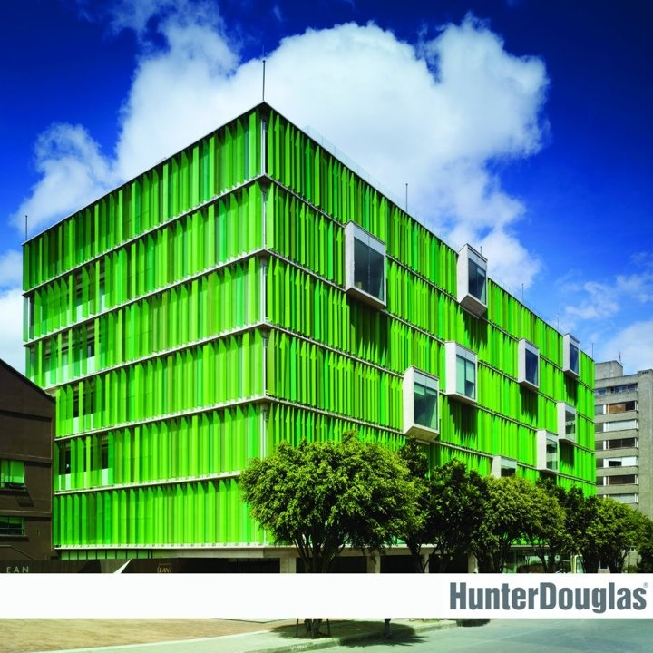 HUNTER DOUGLAS  Obra: Universidad EAN Sede El Nogal  Ubicación: Colombia, Bogotá  Arquitecto: Arq. Daniel Bonilla