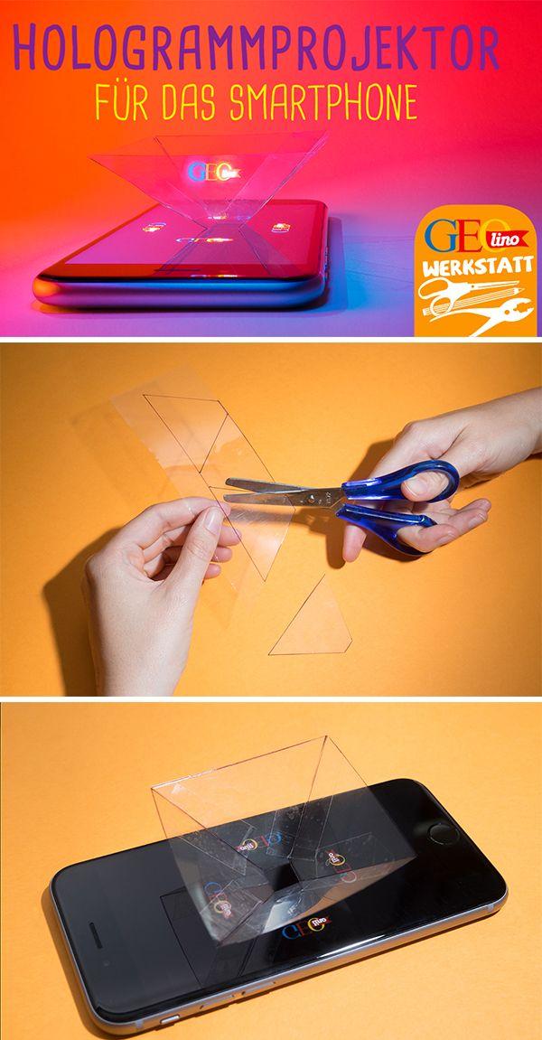 Baut einen Hologramm-Projektor! Bei uns gibt es die Bastelanleitung.