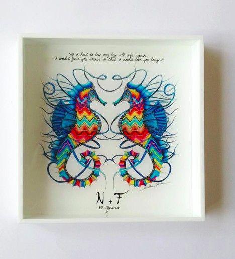 www.storymood.com  50 years anniversary gift : custom white porcelain plexiglass handmade decorative tray