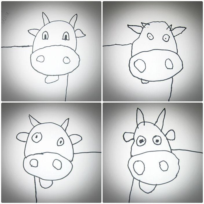 dessin dirigé vaches