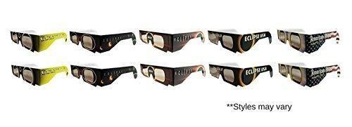 Eclipse Glasses - CE Certified Safe Solar Eclipse Glasses Eye Protection  10pk Random Designs