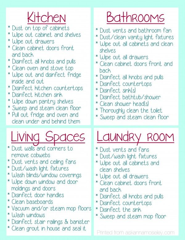 What to clean before you move into a house {and FREE printable} - Ask Anna