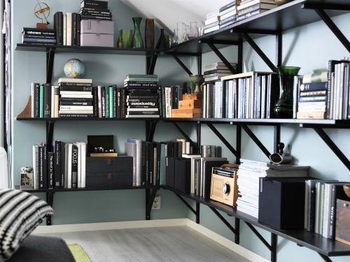 ekby hemnes ekby valter wall shelf black brown black turning storage and love this. Black Bedroom Furniture Sets. Home Design Ideas