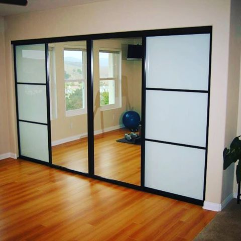 Transform Your Home Gym With Our Glass And Mirrored Closet Doors.
