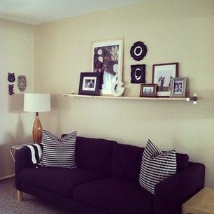 Shelf instead of gallery above couch – #abovecouch…