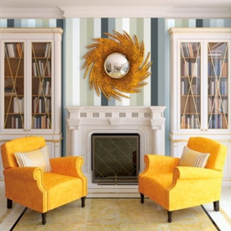 Wallpaper Accent Wall Ideas Living Room Amazing Interior: 1000+ Ideas About Wallpaper Accent Walls On Pinterest