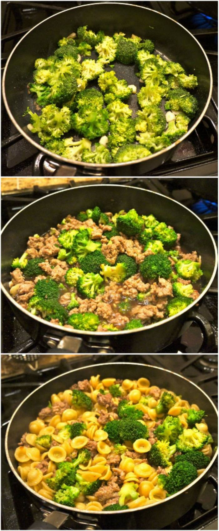 Sausage and broccoli orecchiette