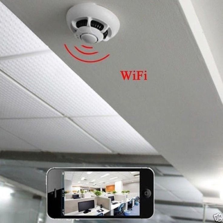 WiFi 1080p spy IP camera nanny cam smoke detector HD-90 motion detection DVR new #smokedetector