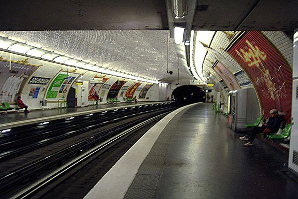 Metro Station Jourdain, Paris
