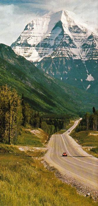 Mount Robson, British Columbia. Beautiful British Columbia, Spring 1969