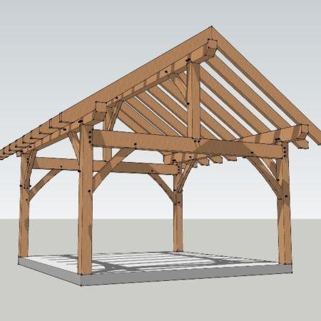 4049589ec75 16x16 Timber Frame Plan - Timber Frame HQ