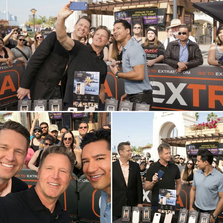 We had so much fun filming on Extra TV with Mario Lopez!