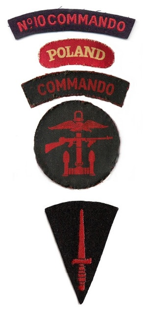 Polish Commando emblems, including the Joint Operations Command badge