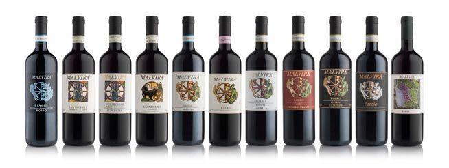 Vini rossi Malvirà: Langhe Nebbiolo, Barbrera d'Alba, Langhe Rosso, Roero Riserva e Birbet