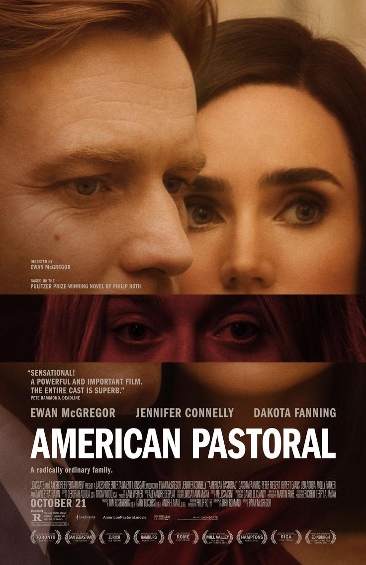 Check out the new poster for Ewan McGregor's directorial debut, #AmericanPastoral, based on Philip Roth's Pulitzer Prize-winning novel - Arriving in select theaters Oct. 21.