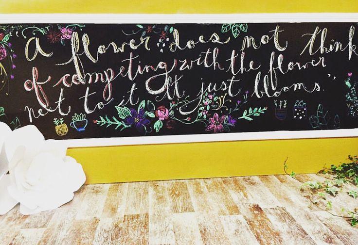 Flower shoppe chalkboard.