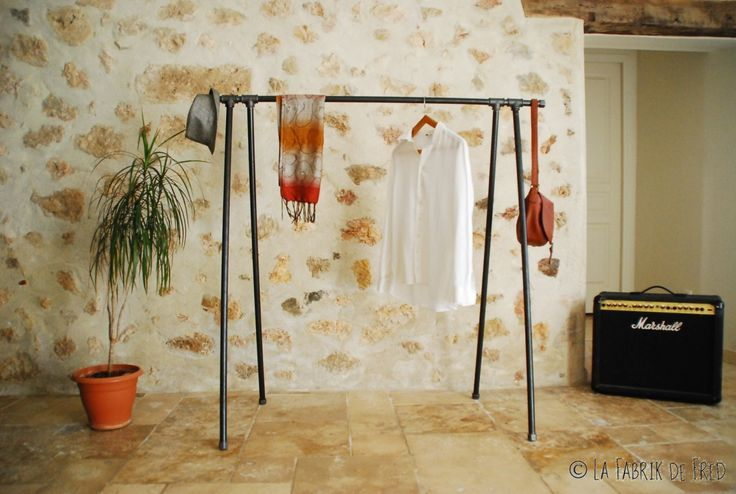 garment rackIndustrial Pipe Clothing RackWall by laFabrikdeFred