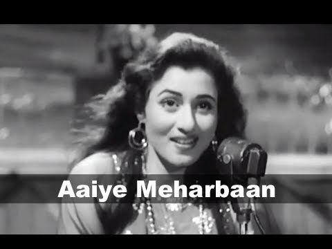 ▶ Aaiye Meharbaan - Madhubala, Ashok Kumar - Howrah Bridge - Bollywood Song - YouTube