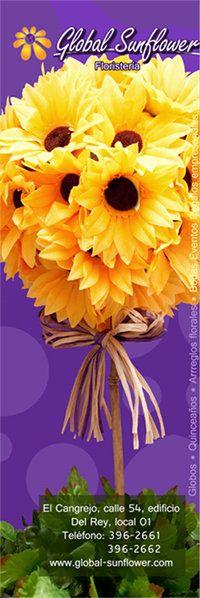 GLOBAL SUNFLOWER Realizamos entregas en toda Ciudad Panamá. También Realizamos envíos de Arreglos Florales a nivel Internacional. http://www.global-sunflower.com/