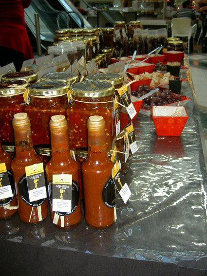 Some delicious sauces with chilli in some of them ;)