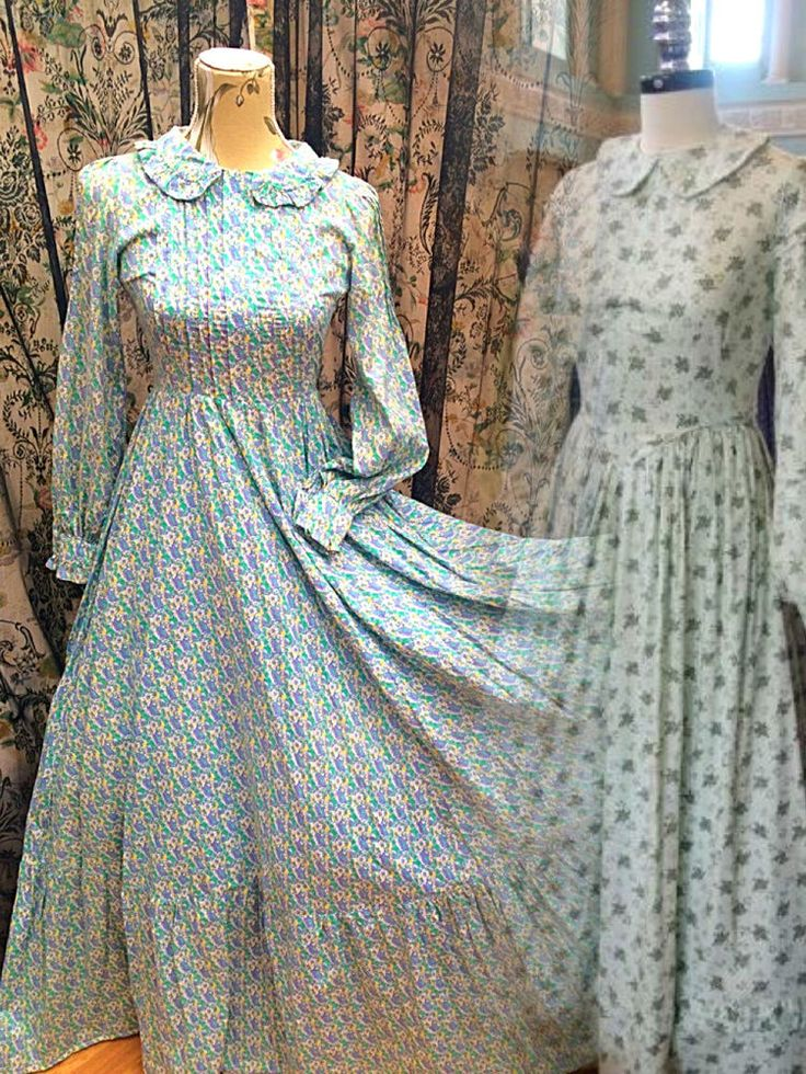vintage LAURA ASHLEY rare MUSEUM wales FLORAL victorian MAXI dress UK modern 6 in Clothes, Shoes & Accessories, Vintage Clothing & Accessories, Women's Vintage Clothing | eBay