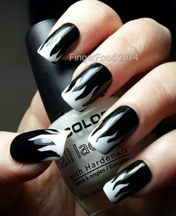 17 Best Ideas About Black White Nails On Pinterest