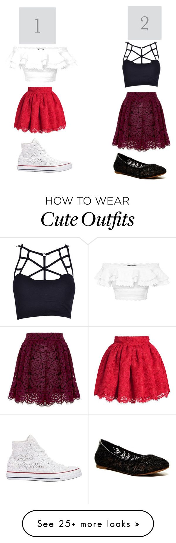 """""""Do Like Outfit 1 or 2 better"""" by hnashared on Polyvore featuring Alice + Olivia, Alexander McQueen, Lucky Brand and Converse"""