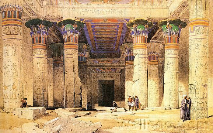 Egyptian Architecture decor ancient egyptian and roberts paintings the ancient egypt