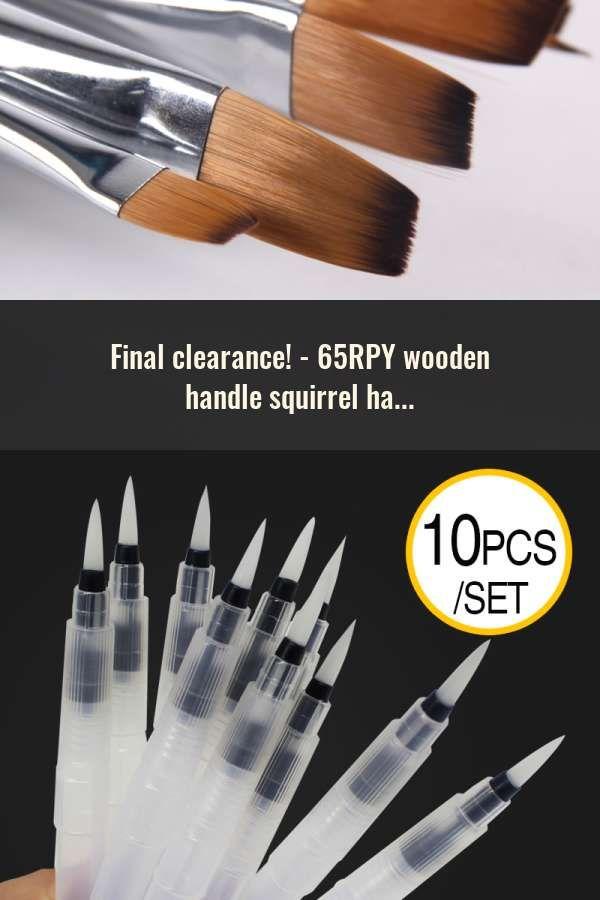15 Paint Brush Set Long Paintbrushes Brushes For Acrylic